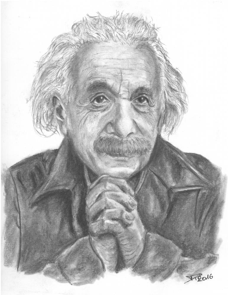 Albert Einstein por DamienRollee